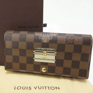 Louis Vuitton Damier Ebene Trunks Sarah Wallet